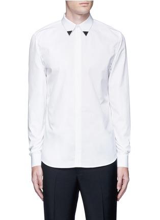 首图 - 点击放大 - GIVENCHY - 三角领饰纯棉府绸衬衫