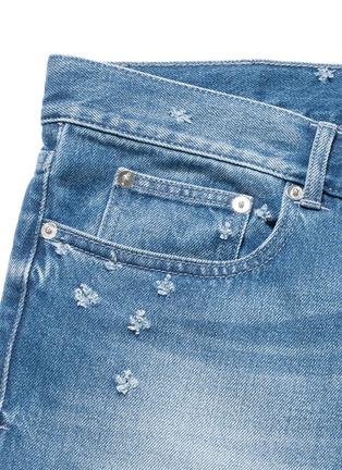 - GIVENCHY - 磨破水洗纯棉修身牛仔裤