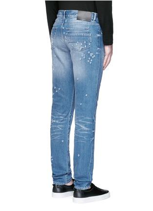 背面 - 点击放大 - GIVENCHY - 磨破水洗纯棉修身牛仔裤