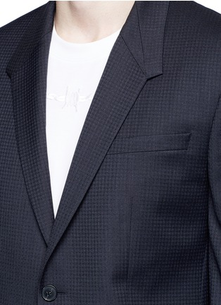 细节 - 点击放大 - GIVENCHY - 格纹羊毛西服套装