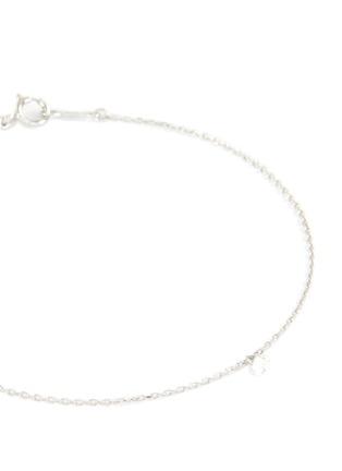 细节 - 点击放大 - PERSÉE PARIS - DANAE钻石白金吊坠手链