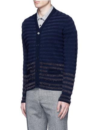 正面 -点击放大 - ALTEA - 拼色毛绒条纹混羊毛针织外套