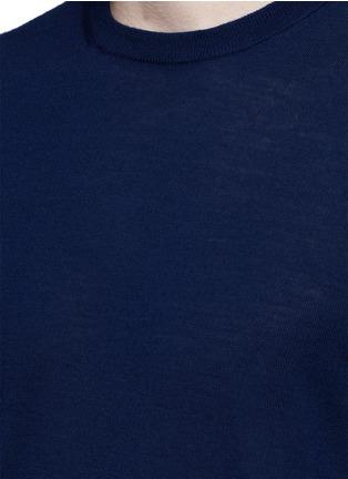 细节 - 点击放大 - ALTEA - 纯色初剪羊毛针织衫