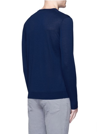 背面 - 点击放大 - ALTEA - 纯色初剪羊毛针织衫