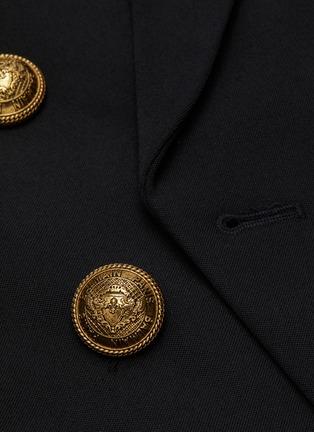 - BALMAIN - 青果领金属钮扣oversize羊毛西服外套