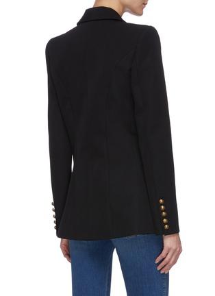 背面 - 点击放大 - BALMAIN - 青果领金属钮扣oversize羊毛西服外套