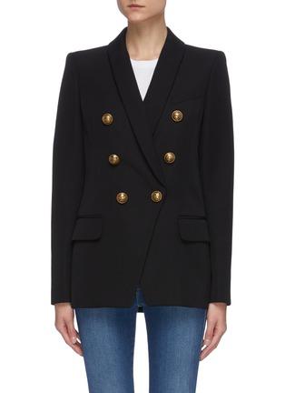 首图 - 点击放大 - BALMAIN - 青果领金属钮扣oversize羊毛西服外套