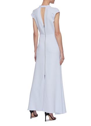 背面 - 点击放大 - ROLAND MOURET - KATIOS系带切割搭叠褶裥连衣裙