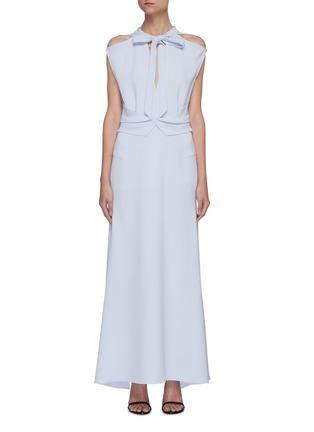 首图 - 点击放大 - ROLAND MOURET - KATIOS系带切割搭叠褶裥连衣裙
