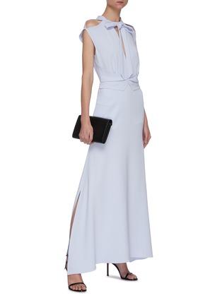 模特儿示范图 - 点击放大 - ROLAND MOURET - KATIOS系带切割搭叠褶裥连衣裙