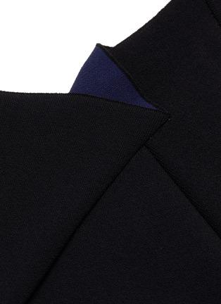 - ROLAND MOURET - KLINT拼色褶裥开衩无袖连衣裙