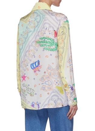 背面 - 点击放大 - MIRA MIKATI - 拼色趣味图案衬衫
