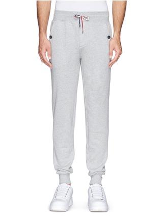 首图 - 点击放大 - MONCLER - 纯棉休闲长裤