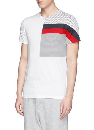 正面 -点击放大 - MONCLER - 条纹波点纯棉T恤