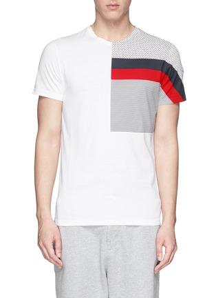 首图 - 点击放大 - MONCLER - 条纹波点纯棉T恤