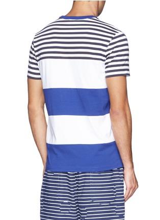 背面 - 点击放大 - MONCLER - 拼色条纹纯棉T恤