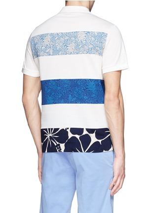 背面 - 点击放大 - MONCLER - 印花布块拼贴纯棉polo衫