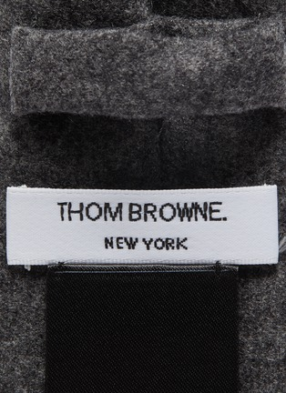 细节 - 点击放大 - THOM BROWNE - 四重条纹羊毛混羊绒领带