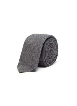 首图 - 点击放大 - THOM BROWNE - 四重条纹羊毛混羊绒领带