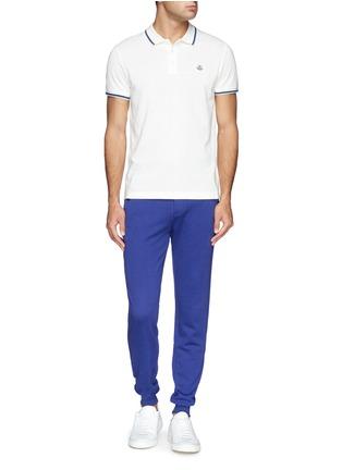 模特儿示范图 - 点击放大 - Moncler - 纯棉休闲长裤
