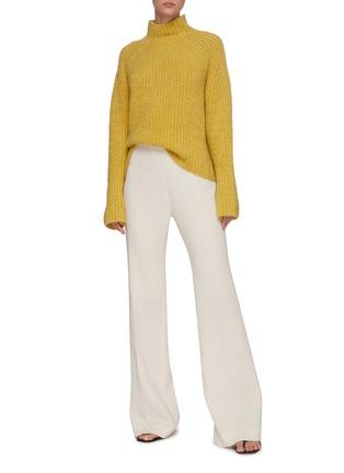 模特儿示范图 - 点击放大 - PETAR PETROV - 小高领羊绒混丝针织衫