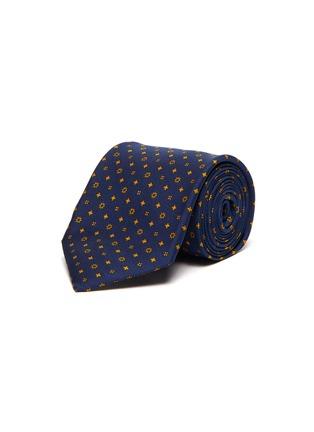 首图 - 点击放大 - STEFANOBIGI MILANO - 拼色趣味图案真丝领带