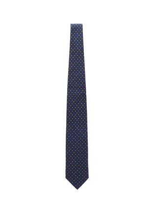 模特儿示范图 - 点击放大 - STEFANOBIGI MILANO - 拼色趣味图案真丝领带