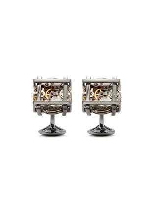 首图 - 点击放大 - TATEOSSIAN - 方框齿轮造型宝石镀炮铜金属袖扣