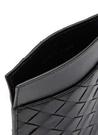 细节 - 点击放大 - BOTTEGA VENETA - 交叠编织真皮零钱包