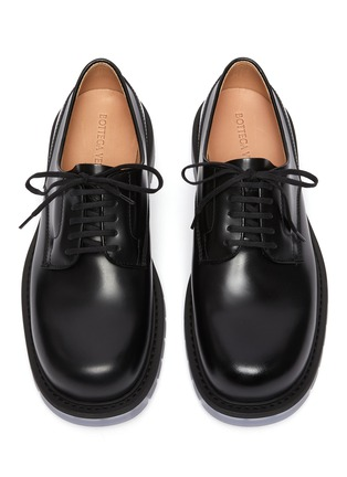 细节 - 点击放大 - BOTTEGA VENETA - 透明鞋底小牛皮德比鞋