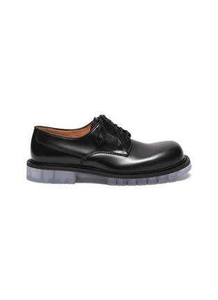 首图 - 点击放大 - BOTTEGA VENETA - 透明鞋底小牛皮德比鞋