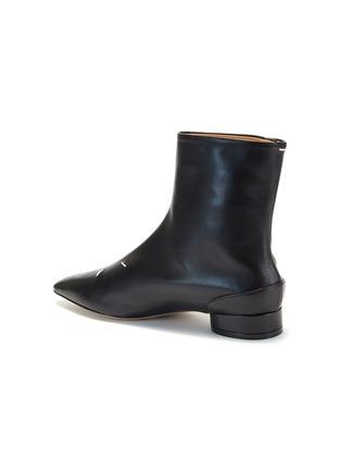 细节 - 点击放大 - MAISON MARGIELA - KIKI logo真皮短靴
