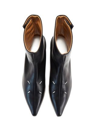 模特儿示范图 - 点击放大 - MAISON MARGIELA - KIKI logo真皮短靴