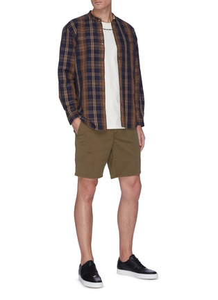 模特儿示范图 - 点击放大 - RAG & BONE - CLASSIC棉质短裤