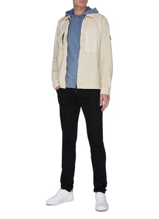 模特儿示范图 - 点击放大 - RAG & BONE - Lance渐变插肩袖纯棉连帽卫衣
