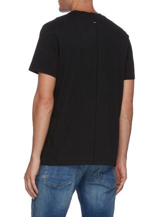 背面 - 点击放大 - RAG & BONE - Logo拼色条纹纯棉T恤