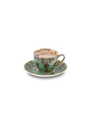首图 –点击放大 - CORALLA MAIURI - Michelangelo陶瓷茶杯及茶碟套装-绿色