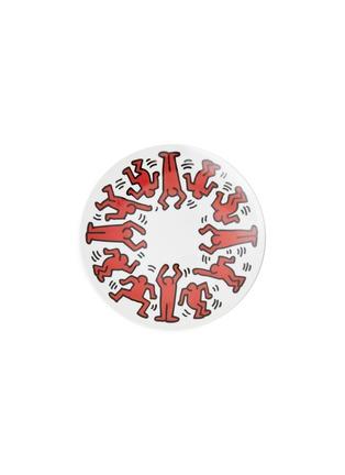 首图 –点击放大 - LIGNE BLANCHE - RED ON WHITE陶瓷盘(21cm)