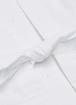 - EQUIPMENT - 露背系带纯棉衬衫