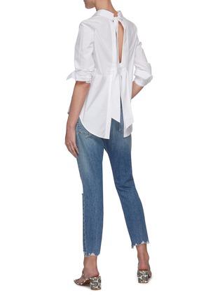 模特儿示范图 - 点击放大 - EQUIPMENT - 露背系带纯棉衬衫