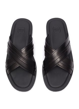 细节 - 点击放大 - MALONE SOULIERS - GABRIEL交叉搭带真皮凉鞋