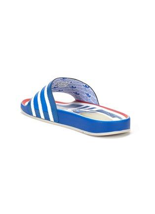 细节 - 点击放大 - ADIDAS - ADILETTE趣味图案拼色条纹拖鞋