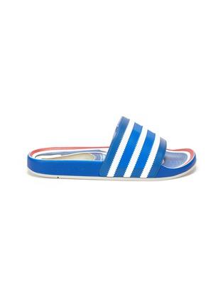 首图 - 点击放大 - ADIDAS - ADILETTE趣味图案拼色条纹拖鞋