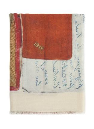 细节 - 点击放大 - FRANCO FERRARI - EUCLIDE拼色围巾