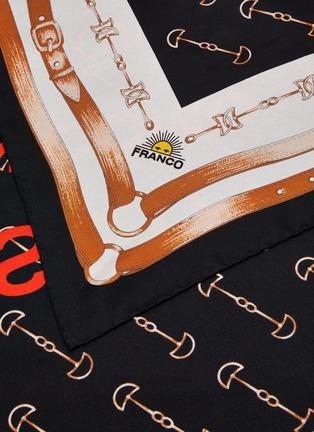 细节 - 点击放大 - FRANCO FERRARI - TWILL SETA金属搭带图案真丝围巾