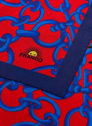 细节 - 点击放大 - FRANCO FERRARI - TWILL SETA链条图案真丝围巾