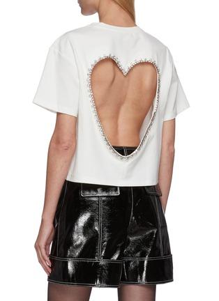 背面 - 点击放大 - AREA - 仿水晶点缀镂空爱心T恤