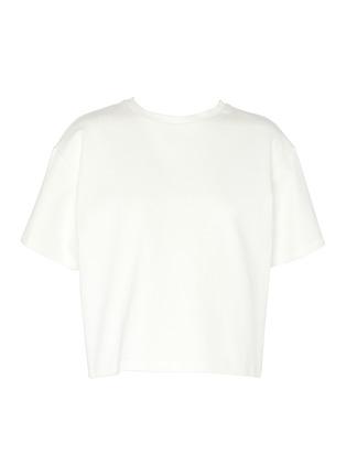 首图 - 点击放大 - AREA - 仿水晶点缀镂空爱心T恤