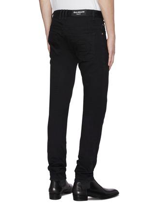 背面 - 点击放大 - BALMAIN - Logo修身棉质牛仔裤