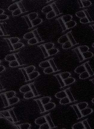 - BALMAIN - B字母几何提花混棉天鹅绒上衣